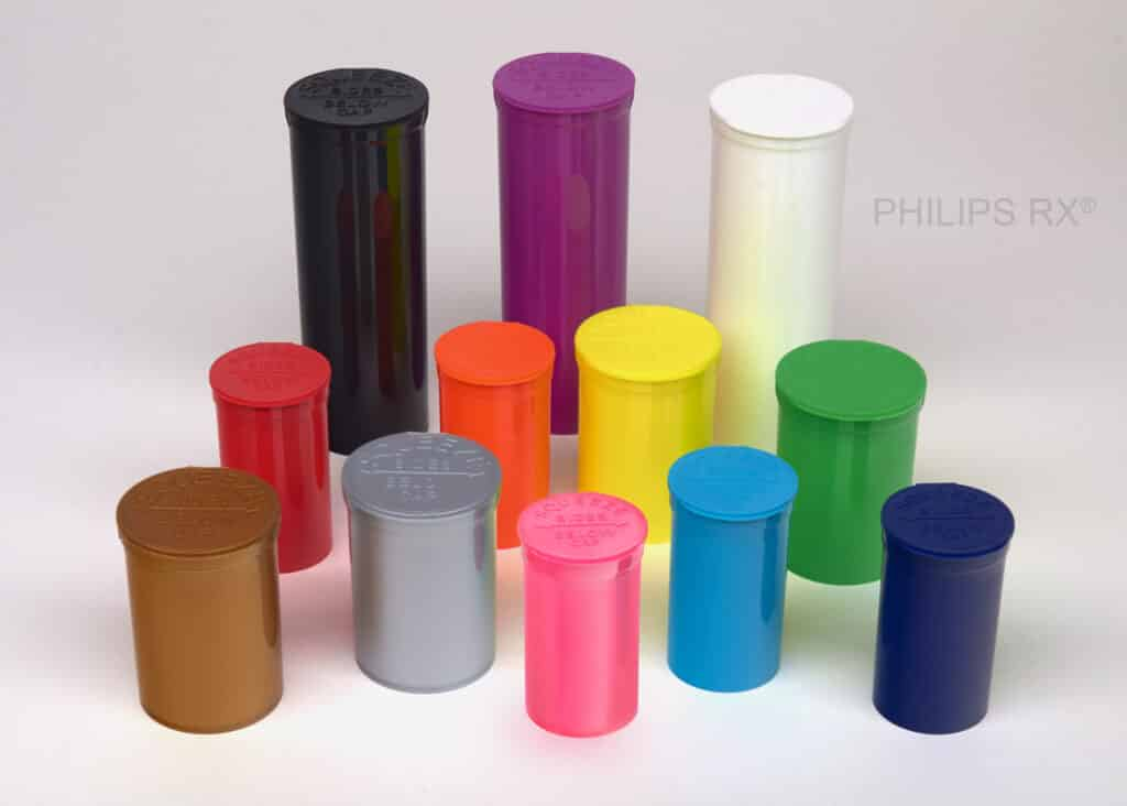 multiple colored pop top jars