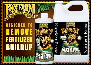 Foxfarm: Designed to remove fertilizer buildup